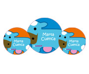 3 Pack Personalised Cow Badges