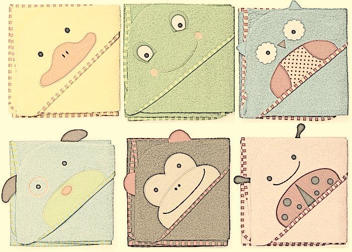 Toallas capa de animales para peques chupetes - Toallas infantiles personalizadas ...