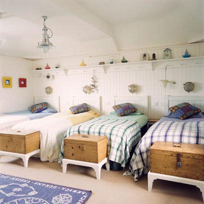 Habitaciones infantiles compartidas por 3 o m s ni os - Habitaciones infantiles 2 camas ...