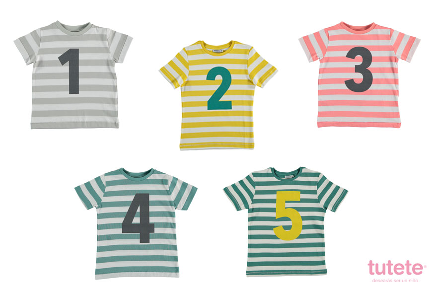 camisetas infantiles de cumpleaños